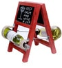 Vermilion Ladder Style Wine Rack in Red Finish by Desi Jugaad