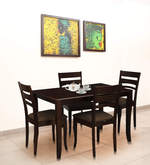 Victor Four Seater Dining Set in Walnut Finish