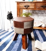 Hadise Stool in Brown & Grey Colour