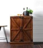 Victorian Bar Cabinet in Classic Walnut Finish
