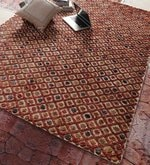 Multicolour Jute & Wool 96 x 60 Inch Hand Knotted Carpet