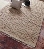 Red & Beige Wool 96 x 60 Inch Carpet