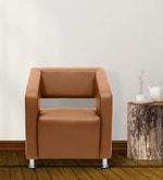 Vitara One Seater Sofa in Dark Almond Colour