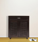 Vitoria Shoe Rack with Drawer in Brown Colour