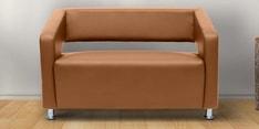 Vitara Two Seater Sofa in Dark Almond Colour