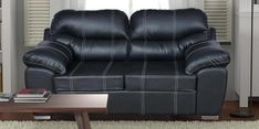 Vivianna Two Seater Sofa in Black Colour