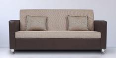 Vivid Three Seater Sofa in Brown Colour