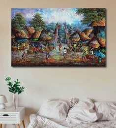 Wholesale Lots Oil painting Young village woman Off To Market canvas