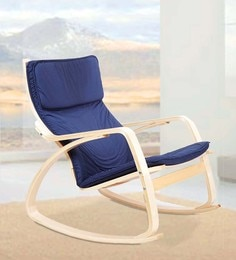 Vita Rocker Chair in Blue Colour by HomeTown at pepperfry