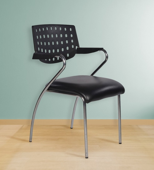 Victoria Metal Chair in Black Colour by Chromecraft