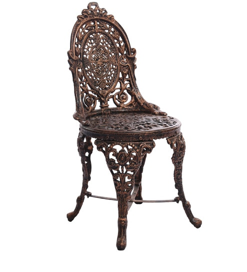 Victorian Style Antique Chair in Copper Colour by Karara Mujassme - Buy Victorian Style Antique Chair In Copper Colour By Karara