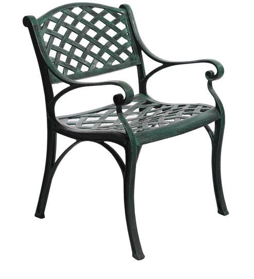 Victorian Style Antique Chair In Green Colour By Karara Mujassme