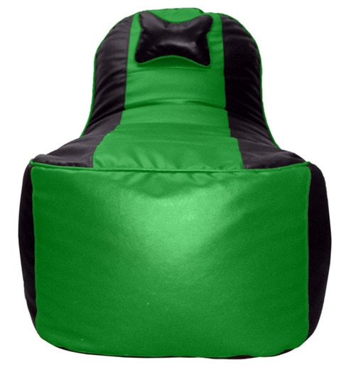 Video Rocker Bean Bag Chair Cover In Green N Black Colour By Invogue