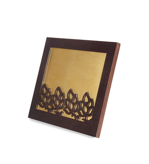 Buy Brown Wood 8 x 10 Inch Floral Big Single Photo Frame by Cocktail ...