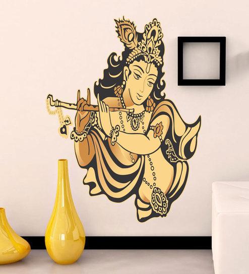 8064130441c Buy Vinyl Lord Krishna Wall Sticker By Happy Walls Online - Spiritual Wall  Stickers - Wall Stickers - Wall Art - Pepperfry Product