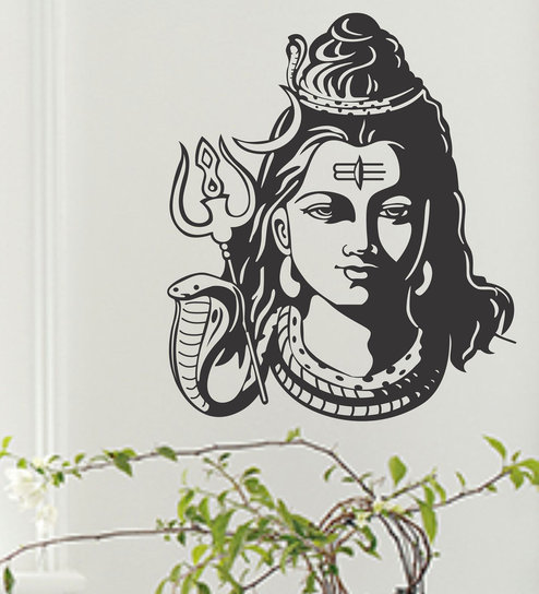 04ed0a656f Buy Vinyl Lord Shiva Ji Wall Sticker By Happy Walls Online - Spiritual Wall  Stickers - Wall Stickers - Wall Art - Pepperfry Product