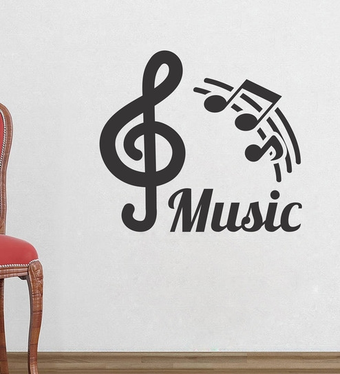 Vinyl music node wall sticker by wall attraction