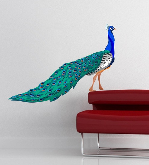 Vinyl Peacock Wall Sticker By Decor Kafe