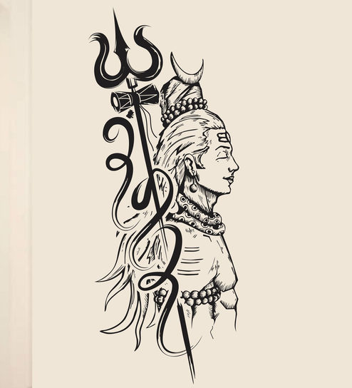 Vinyl Trishul Lord Shiva Wall Sticker By Happy Walls