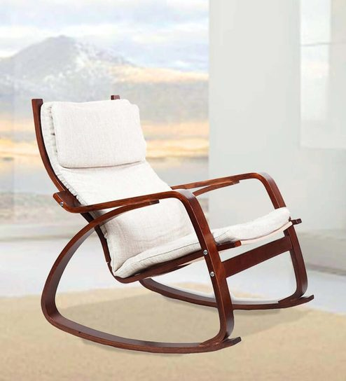 Rocking Chair And Nap Sofa By Missonihome: Buy Vita Rocker Chair In Beige Colour By HomeTown Online