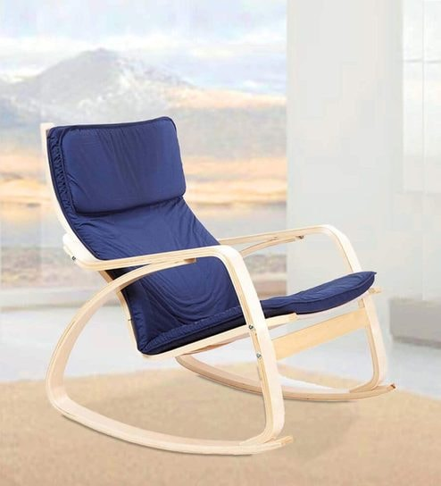 timeless design f48dc 8ab5f Vita Rocking Chair in Blue Colour by HomeTown