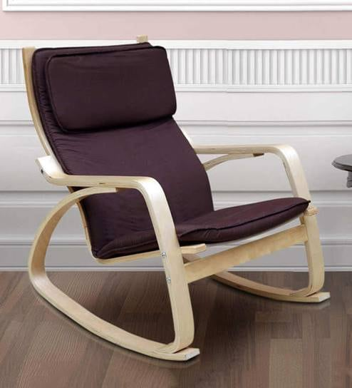 Vita Rocking Chair With Brown Cushion By HomeTown