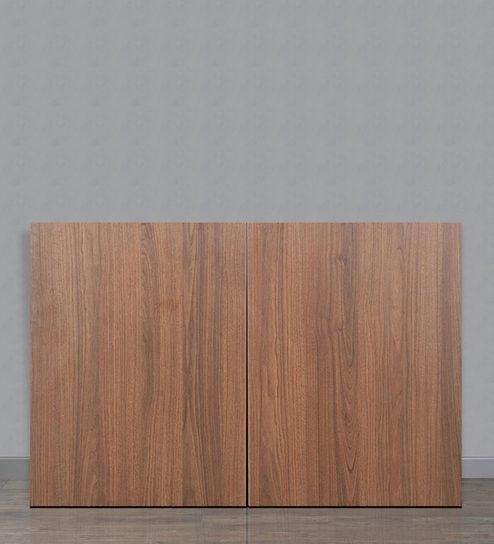 Buy Viva Two Door Wall Mount Storage Unit in Walnut Finish by Godrej ...