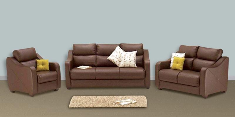 Buy Vida Sofa Set 3 2 1 Seater in Burgundy Colour by