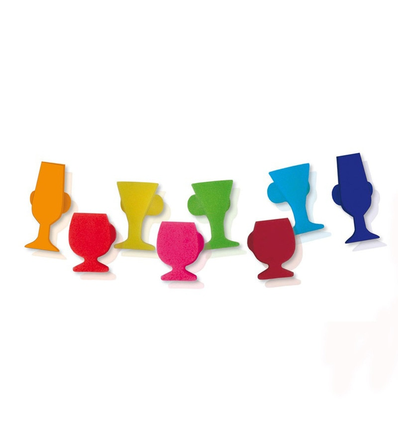 Vin Bouquet Glass Markers Set  Set Of 8