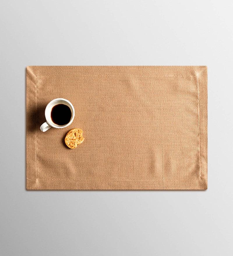 Vista Home Fashion Beige Cotton & Polyester Placemats