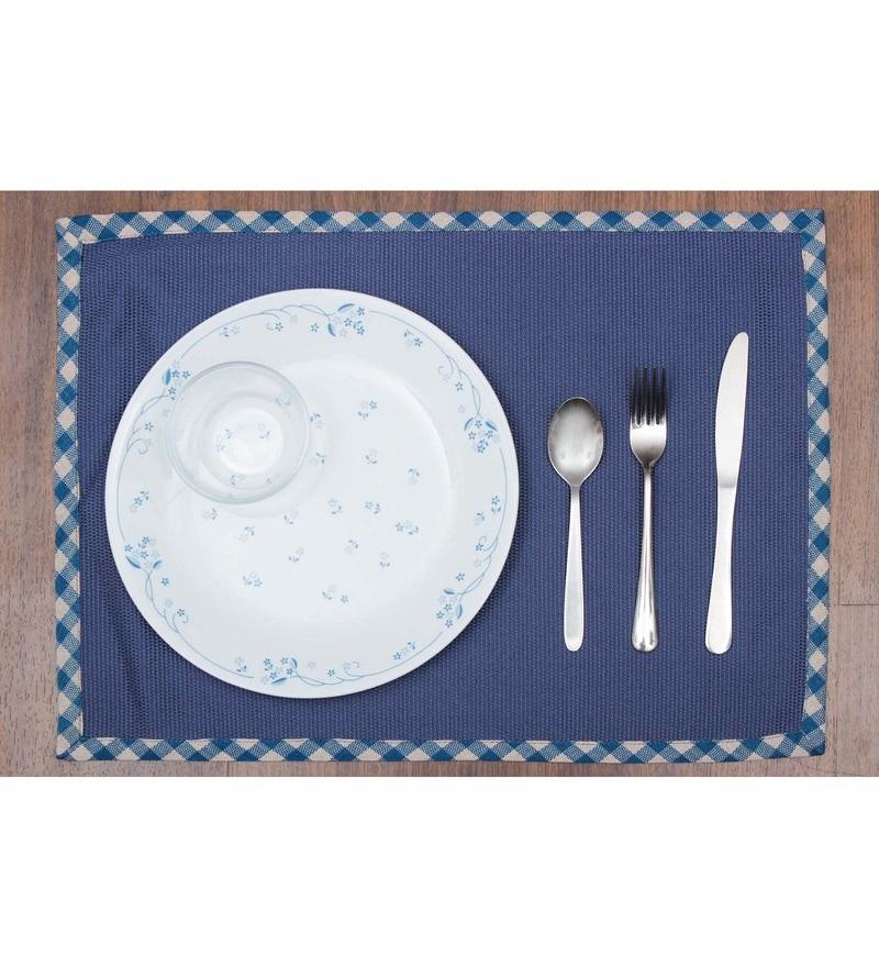 Vista Home Fashion Blue Cotton & Polyester Placemats