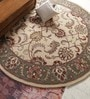 Beige Wool 96 Inch Hand Tufted Carpet by Vikram Carpets