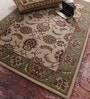 Beige Wool Antiquities Hand Tufted Carpet by Vikram Carpets
