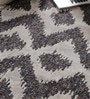 Blue Viscose 95 x 68 Inch Hand Tufted Carpet by Vikram Carpets
