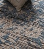 Blue Viscose 96 x 60 Inch Hand Tufted Carpet by Vikram Carpets