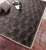 Brown Jute & Wool 110 x 75 Inch Hand Knotted Carpet by Vikram Carpets