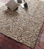 Brown Wool 78 x 54 Inch Hand Knotted Carpet by Vikram Carpets