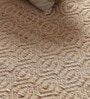 Cream Cotton & Jute 72 x 48 Inch Carpet by Vikram Carpets