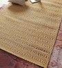 Vikram Carpets Golden Cotton & Jute 72 x 50 Inch Carpet