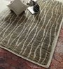 Green Jute & Wool 96 x 60 Inch Hand Knotted Carpet by Vikram Carpets
