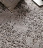 Grey Viscose 96 x 60 Inch Hand Tufted Carpet by Vikram Carpets