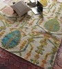 Multicolour Wool & Silk 95 x 70 Inch Hand Knotted Carpet by Vikram Carpets