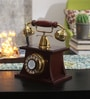Vintage Brass And Wood Telephone