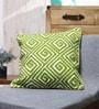 Green Cotton 18 x 18 Inch Cushion Cover by Vista Home Fashion