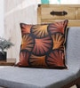 Orange & Yellow Cotton 18 x 18 Inch Cushion Cover by Vista Home Fashion