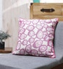 Purple Cotton 18 x 18 Inch Indian Embroidered Cushion Cover by Vista Home Fashion