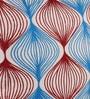 Vista Home Fashion Red & Blue Cotton 18 x 18 Inch Motif Cushion Cover