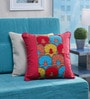 Red Cotton 18 x 18 Inch Cushion Cover by Vista Home Fashion