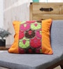 Yellow Cotton 18 x 18 Inch Cushion Cover by Vista Home Fashion