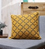 Yellow Cotton 18 x 18 Inch Embroidered Cushion Cover by Vista Home Fashion